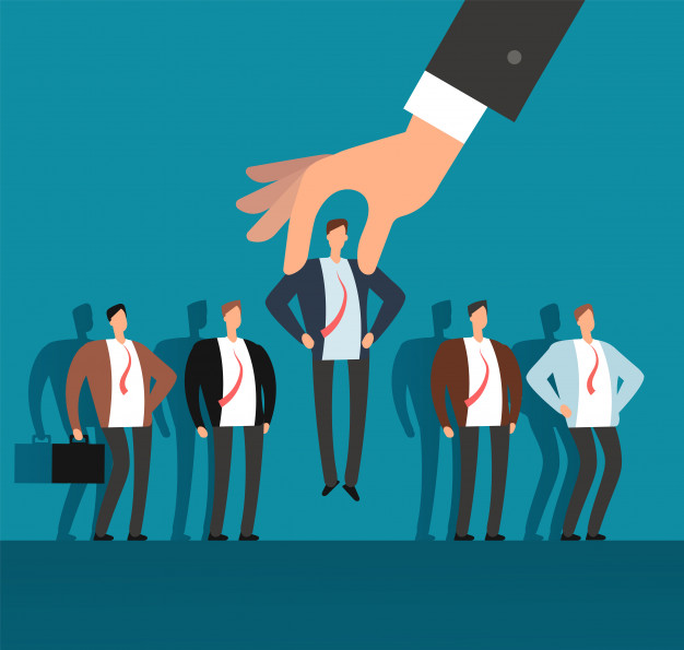 employer-hand-choosing-man-from-selected-group-people-recruitment-vector-business-concept_53562-5960